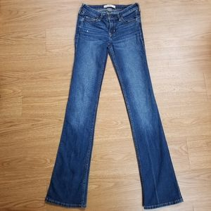 Hollister low rise boot cut jeans size 00/23